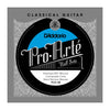 D'Addario PCH-3B Pro-Arte Semi-Polished Silver Plated Copper on Composite Core Classical Guitar Half Set, Hard Tension