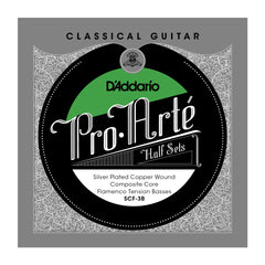D'Addario SCF-3B Pro-Arte Silver Plated Copper on Composite Core Classical Guitar Half Set, Flamenco Tension