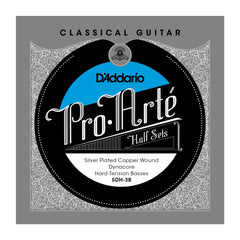 D'Addario SDH-3B Pro-Arte Silver Plated Copper on Composite Dynacore Classical Guitar Half Set, Hard Tension