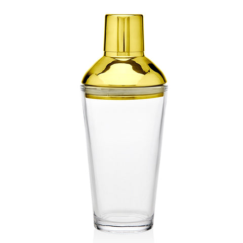 Martini Shaker With Recipe - Gold Finish