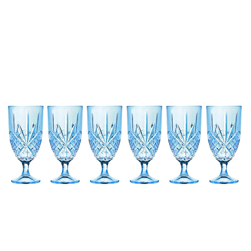 Dublin Blush Turquoise Iced Tea Glasses Set Of 6