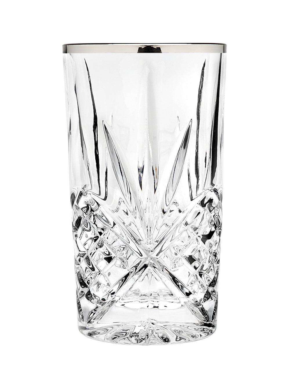 Dublin Set of 4 Highball Glasses - Platinum
