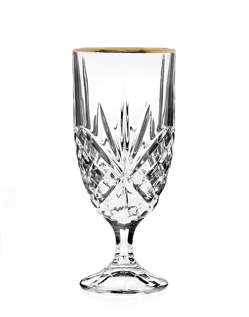Dublin Set of 4 Iced Beverage Glasses - Gold Band