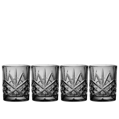 Dublin Midnight Set Of 4 Double Old Fashioned Glasses