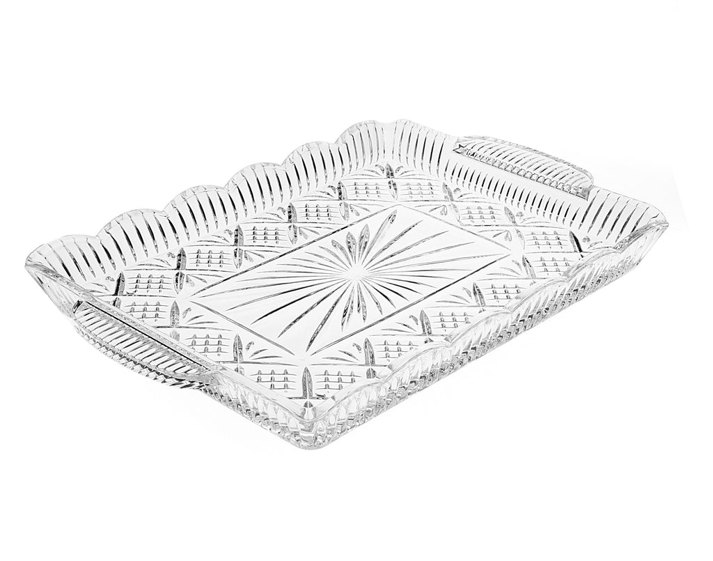 Dublin Crystal Large Rectangular Tray