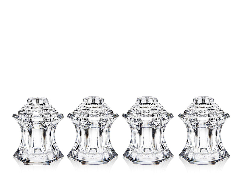 Crystal Salt And Pepper Shakers - Set of 4