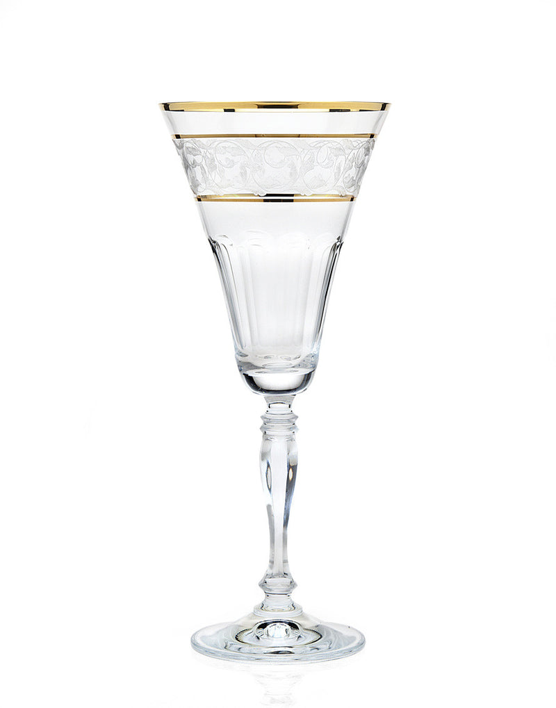Somerset Goldband 8oz Water Goblet