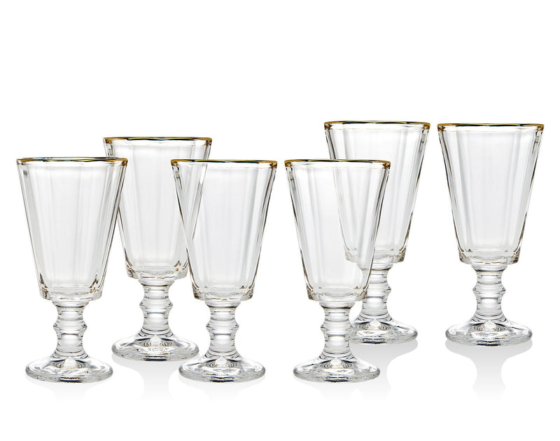 Grandeur Set Of 6 Gold Band Shot Glasses