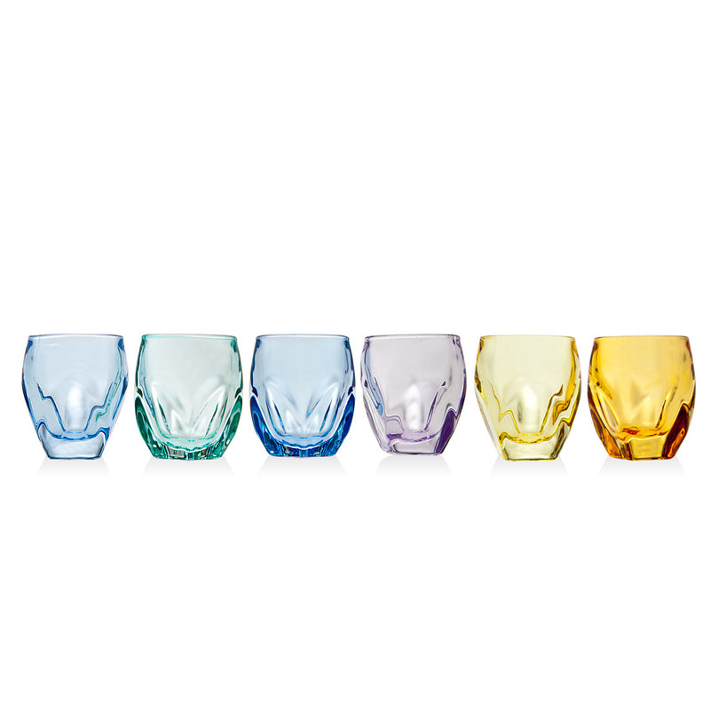 Stockholm Set Of 6 1.5oz Color Shot Glasses