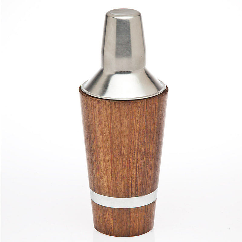 Cocktail Shaker Wood Inlay