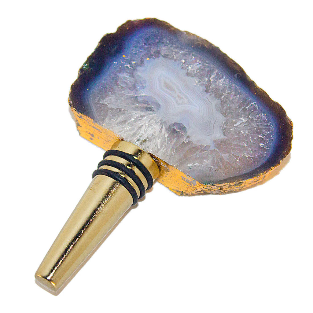 Agate Bottle Stopper - Natural