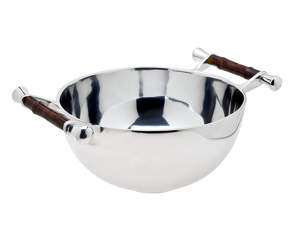 Bamboo Handle Salad Bowl