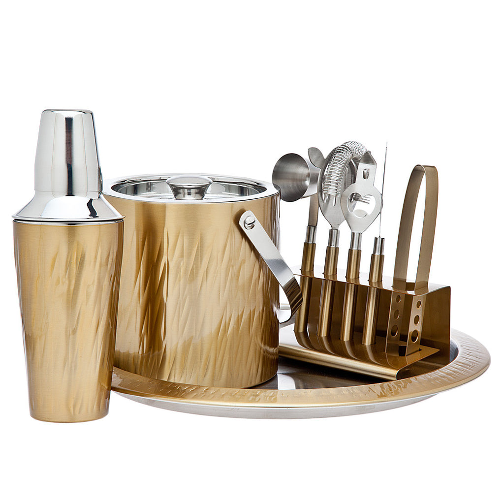 Aztec Gold 9 Piece Bar Set