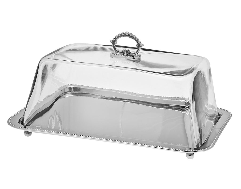 Rectangular Tray with Glass Dome