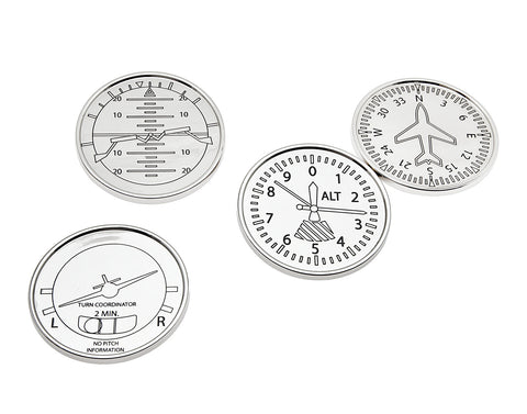 Airplane Coasters Set of 4