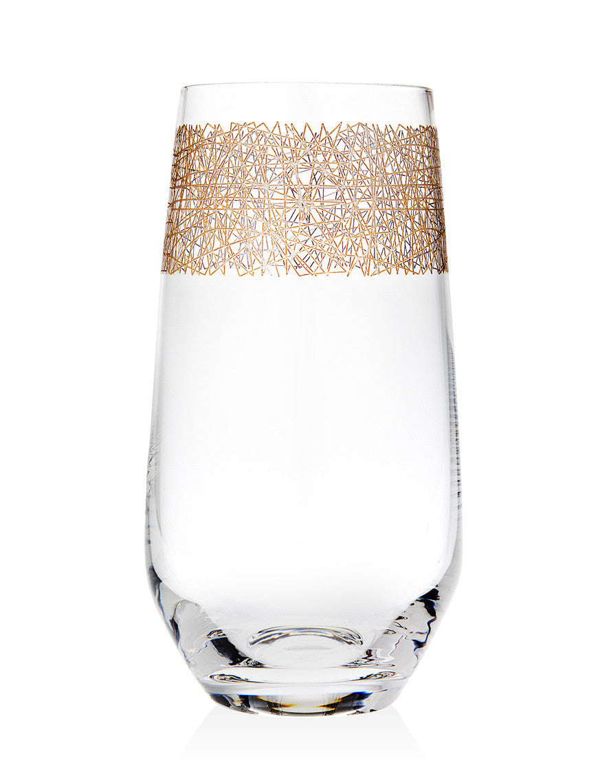 Eclipse Set of 4 Gold Highball Glasses
