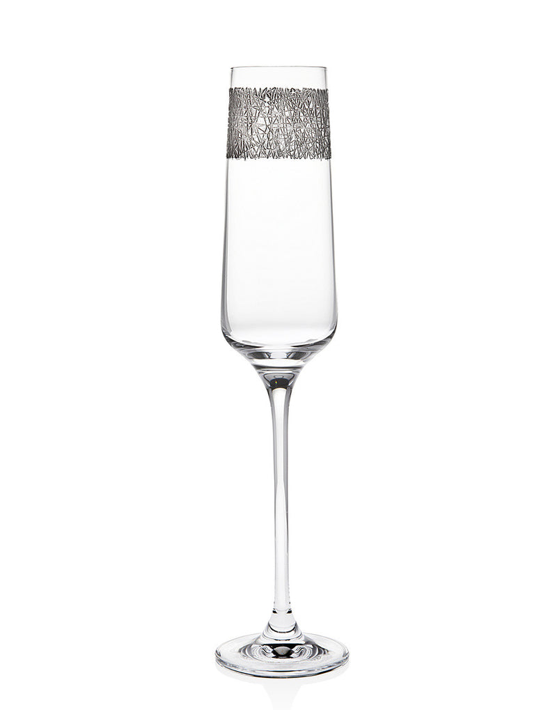 Eclipse Set of 4 Platinum 6oz Champagne Flutes