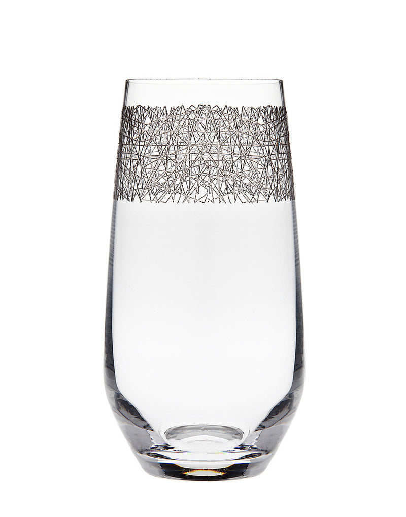 Eclipse Set of 4 Platinum Highball Glasses