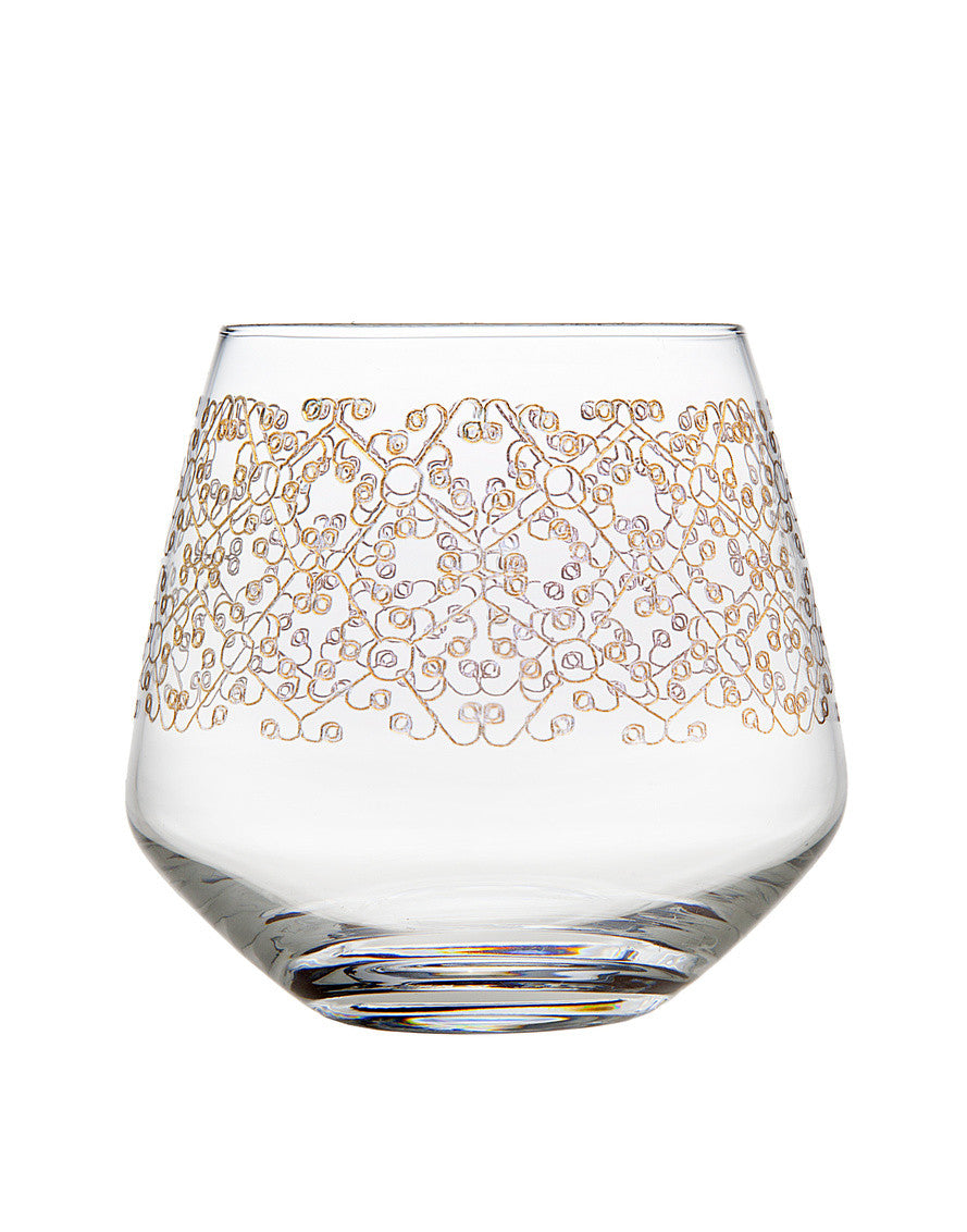 Allegra Set of 4 Gold Tumblers