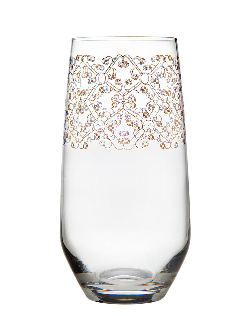 Allegra Set of 4 Gold Highball Glasses