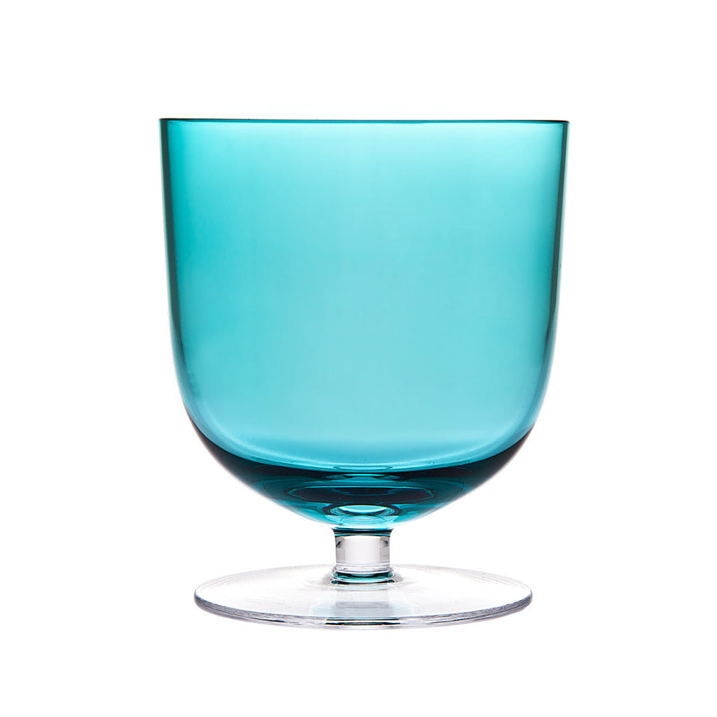 Rondo Set Of 4 Sea Blue Tumbler 13oz Glasses
