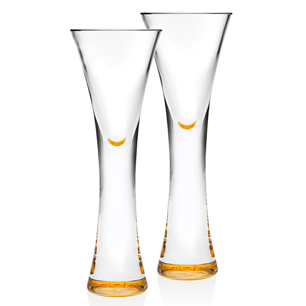 Finley Gold Set Of 2 1.5oz Liqueur Glasses