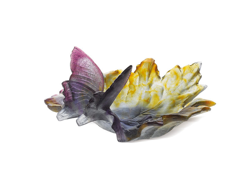 Daum Crystal Butterfly (Papillon) Ornamental Dish