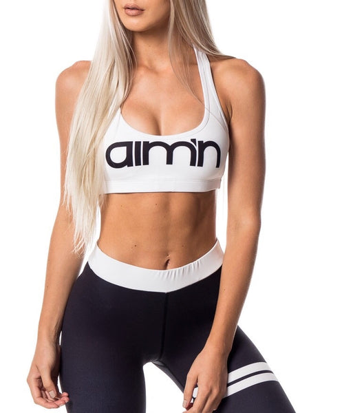 AIM'N White logo bra