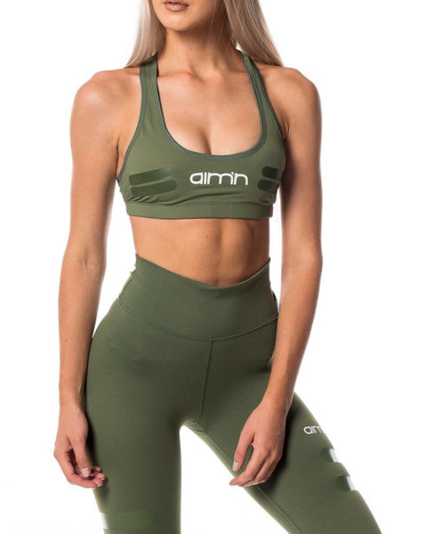 AIM'N Green Tribe Logo Bra