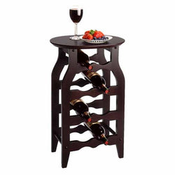 Gamay 8 Bottle Wooden Wine Rack Table - Wine Rack Concepts
