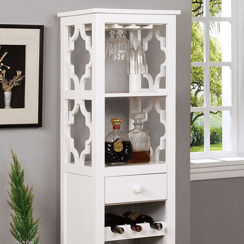 White Stylish Wine & Glass Cabinet - Wine Rack Concepts