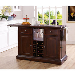 Alton Dark Cherry Kitchen Island - Wine Rack Concepts