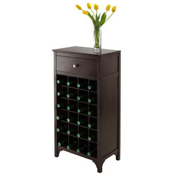 Ancona B 24 Bottle Wood Wine Rack Drawer Cabinet - Wine Rack Concepts