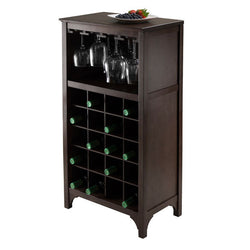 wooden wine and glass rack cabinet
