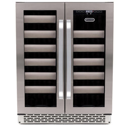 BWR-401DS 40 Btl Stainless Steel Dual Zone Built-in Wine Refrigerator - Wine Rack Concepts