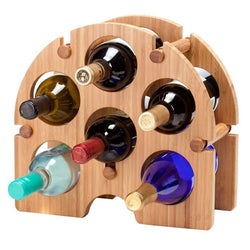 Bamboo Arch 6 Bottle Wooden Counter Top Wine Rack - Wine Rack Concepts