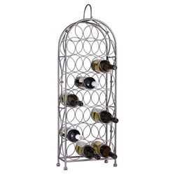 Gray Metal Wine Rack Cabinet