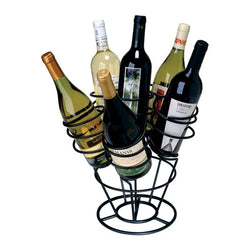 black metal counter top wine rack
