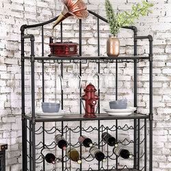Metal Industrial Wine & Glass Rack - Wine Rack Concepts