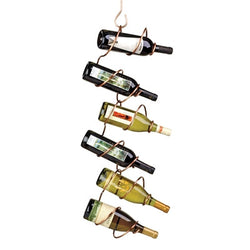 Climbing Tendril 6 Bottle Copper Hanging Wine Rack - Wine Rack Concepts