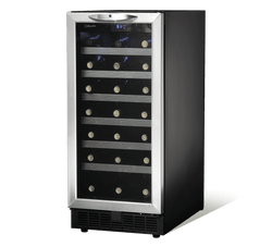 "Danby DWC1534BLS 15"" Single Zone Built-in Wine Cooler - Wine Rack Concepts"