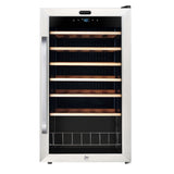 FWC-341TS 34 Bottle Freestanding Stainless Steel Wine Refrigerator with Display Shelf and Digital Control - Wine Rack Concepts