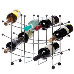 Fusion 15 Bottle Chrome Wine Rack - Wine Rack Concepts