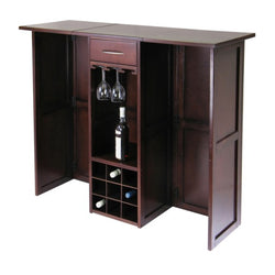 Newport Expandable Wooden Wine Bar and Wine Glass Rack - Wine Rack Concepts