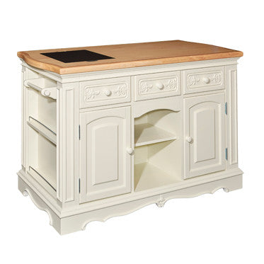 Pennfield White Kitchen Island - Wine Rack Concepts