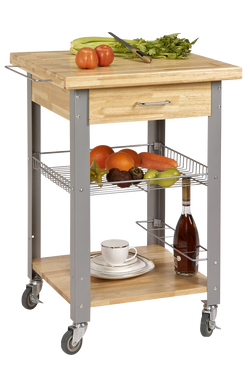Pro Rolling Storage and Organization Kitchen Cart - Wine Rack Concepts