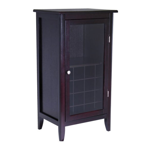 Winsome Ryan 16 Bottle Wine Glass Rack Cabinet - Wine Rack Concepts