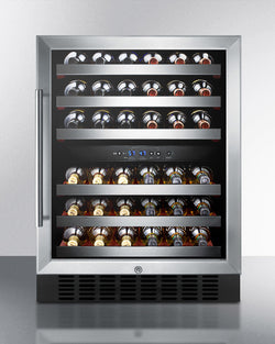 "SWC530LBIST- Dual zone, 24"" Built-in Wine Fridge - Wine Rack Concepts"