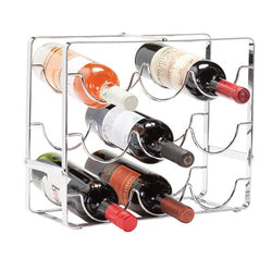 9 Bottle Chrome Metal Wine Rack - Wine Rack Concepts