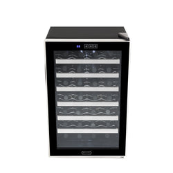 WC-282TS 28 Btl Touch Stainless Steel Freestanding Wine Fridge - Wine Rack Concepts